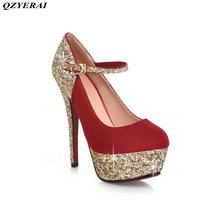 QZYERAI The new spring the metal fine and women's single shoes, high heels fashionable women's shoes European and American style