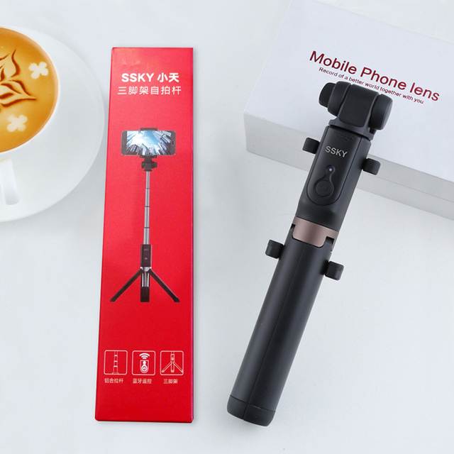 3 in 1 Selfie Stick Phone Tripod Extendable 26 Inch Monopod with Bluetooth Remote for Smartphone iPhone X 8 6 Samsung S8 S9 Note