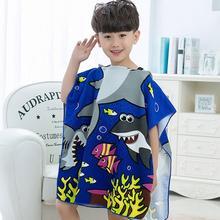 Детские халаты для малышей хлопковое пончо с капюшоном полотенце От 0 до 6 лет с изображением русалки из мультфильма; детский купальный халат, одежда для сна для девочек принцесса Плавание пляжные Полотенца