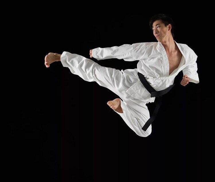 Белый равномерный каратэ Для мужчин Для женщин карате добок равномерное Каратэ костюм Одежда для взрослых и детей