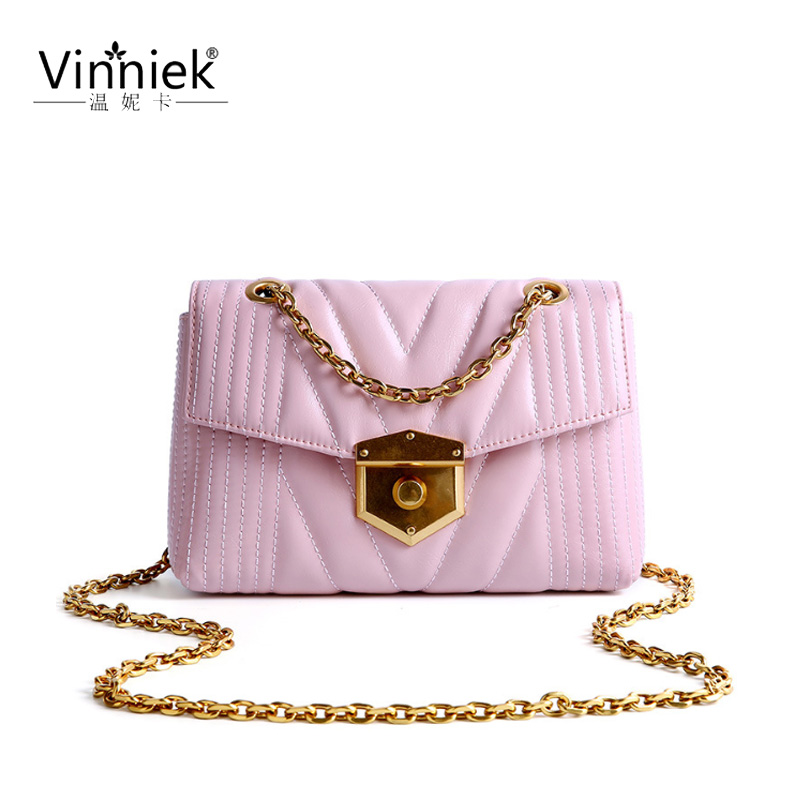 Bags female 2019 New Genuine leather diagonal shoulder packet Designer Brand casual Lock chain bag portable small square bagsBags female 2019 New Genuine leather diagonal shoulder packet Designer Brand casual Lock chain bag portable small square bags