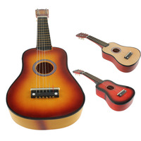 21 Inch 6 String Acoustic Guitar With Pick Beginners Musical Instrument Toy For Children Gift SS