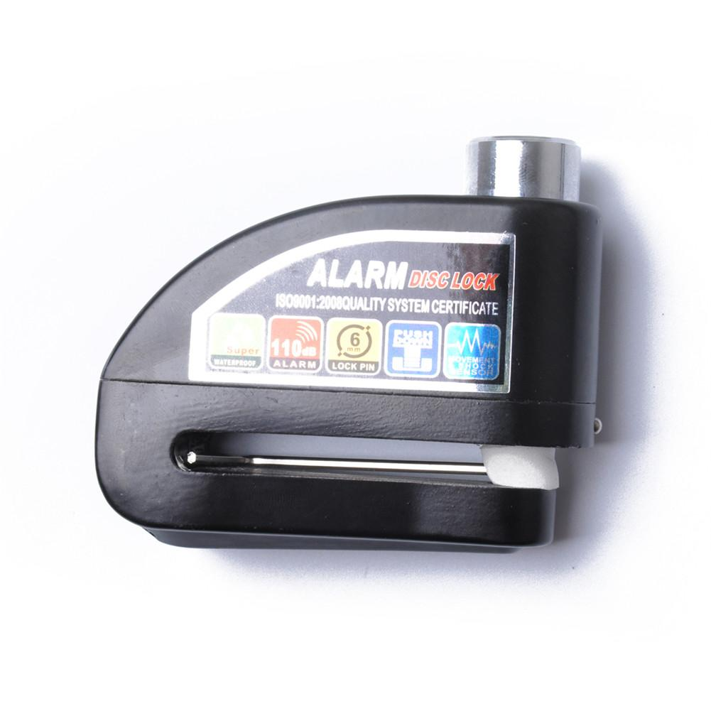Black Motorcycle Scooter Bicycle Aluminum Alloy Anti-theft Wheel Disc Brake Lock Security Alarm