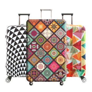 Osłona bagażnika pokrywa walizki elastyczne Pokrowce pokrowiec na wózek kurz dla 18-32 cala podróżujących niezbędne akcesoria H195 tanie i dobre opinie Akcesoria podróżne Odbitki zwierzęce 32cm Pokrowiec na bagaż 20cm Poliester Polecenie RHXFXTL 160g 48cm