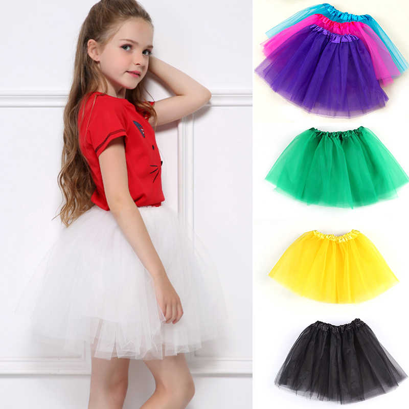 2-7Y Fashion Girl Clothes Tutu Baby Skirts Princess Kids Girls Skirts Lovely Ball Gown Pettiskirt TUTU Children Clothing