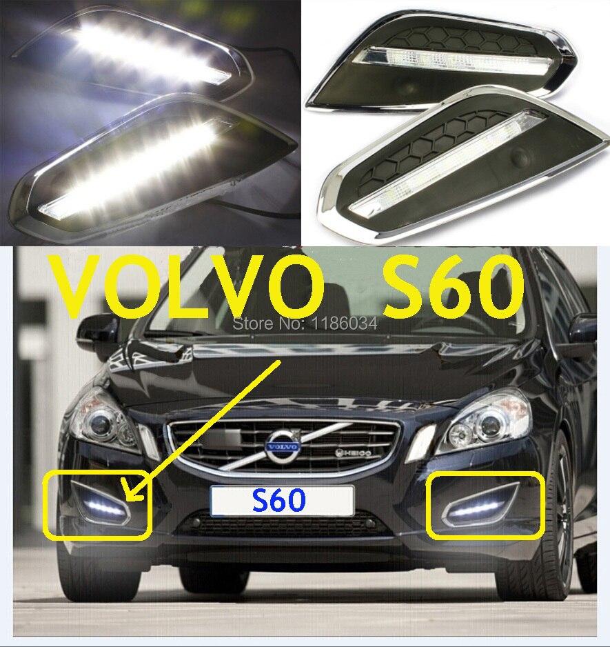 Автомобиль-стайлинг, на S60 дневного света,2009~2013,СИД,Бесплатная доставка!2шт,автомобиль-детектор,на S60 противотуманные фары,авто-чехлы,на S80,с 60