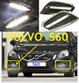 Car-styling, S60 daytime light,2009~2013,LED,Free ship!2pcs,car-detector,S60 fog light,car-covers,S80,s 60