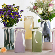 NEW Colored frosted glass Vase Flower for Home Furnishing Model Room Decor  weddings home decoration