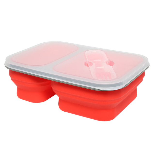 Fashion Hot Sale Dinnerware Sets Silicone Bento Lunch Box Food Container Meal Boxes Tableware Microwave Oven For Kids