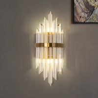 Modern Crystal Sconce Nordic Simple Bedside Lamp Aisle Corridor Lamparas de pared Luxury Wall Lights
