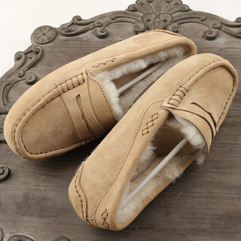 MIYAGINA femmes 100% naturel fourrure chaussures mocassins mocassins doux en cuir véritable loisirs appartements femme décontracté chaussures taille 34 40-in Mocassins from Chaussures    1
