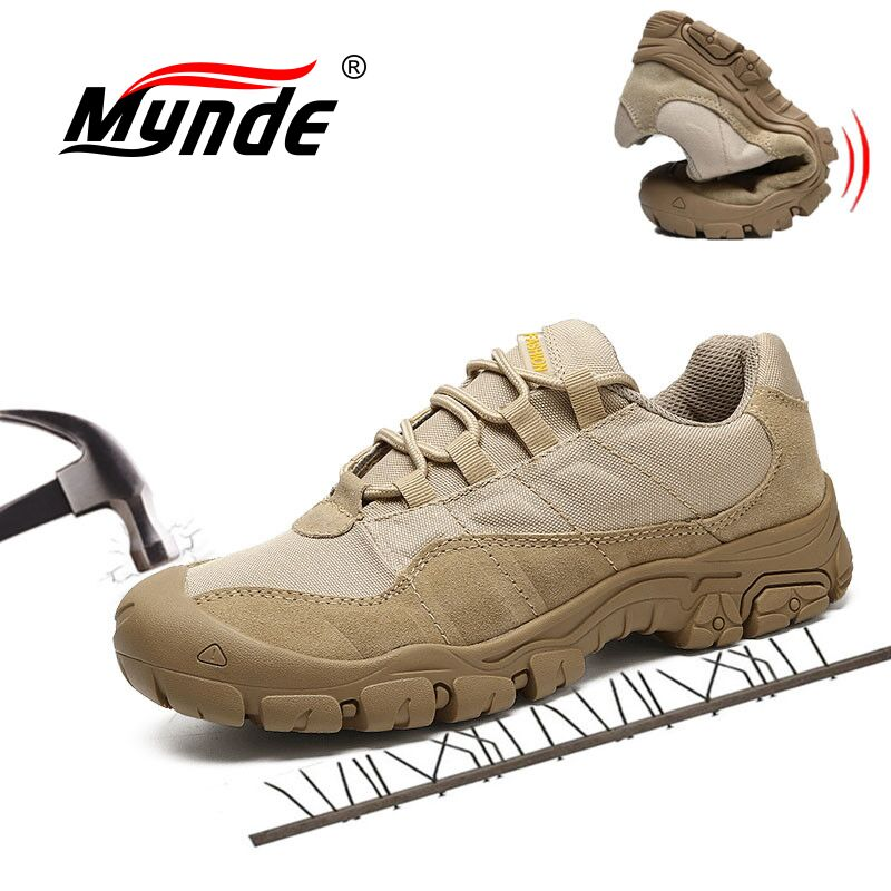 Mynde Cow   Suede     Leather   Work Safety Male Sneakers Adult Non-Slip Casual Shoes Military Army Spring Autumn Footwear Men's shoes