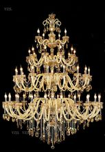 купить Villa Duplex Building living room lights pendant crystal Chandelier hotel lobby Project Hall 3 layer pendant crystal chandelier по цене 83102.2 рублей
