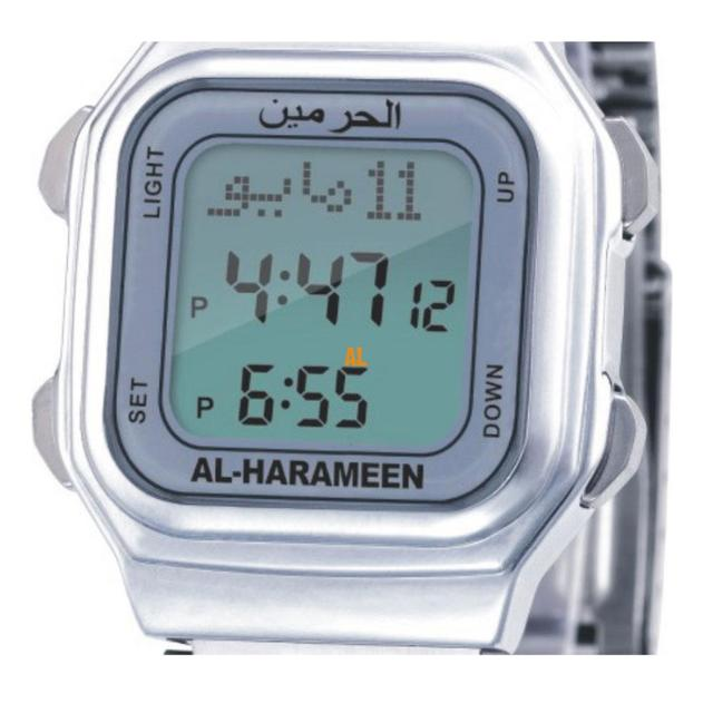 Newest Azan Watch 6461 Islamic Qibla Watch With Prayer Compass Muslim Watch Best islamic gifts Sliver Color