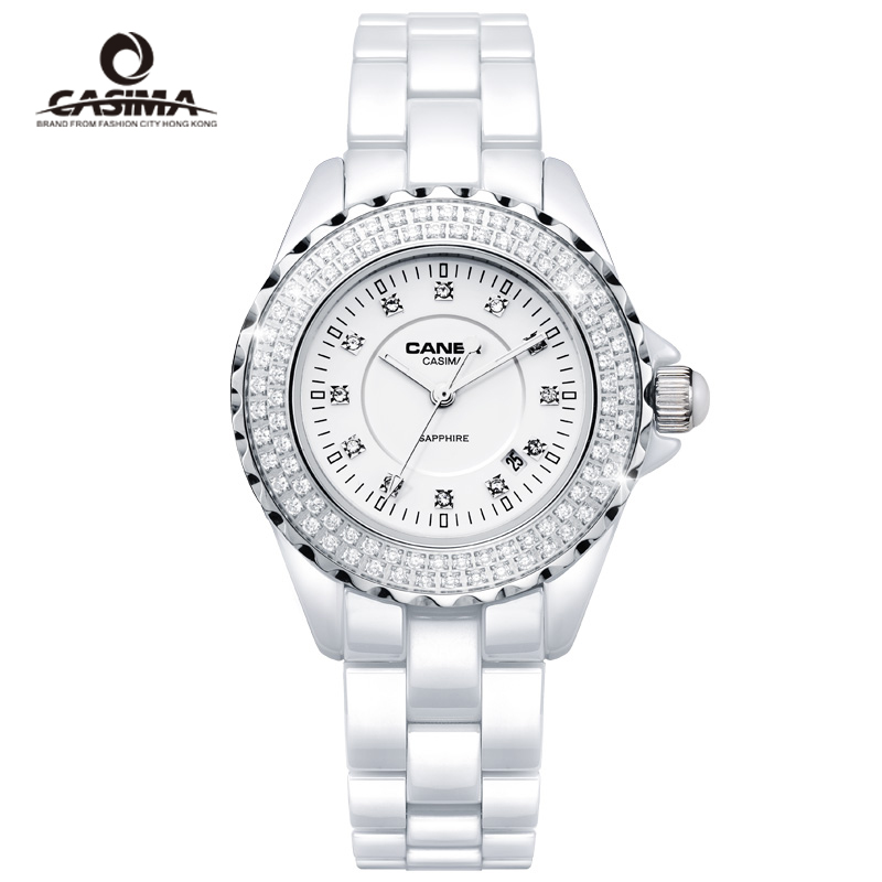 Brand ladies dress watches casual elegant classic white ceramic quartz watch women girl clock waterproof 100M reloj mujer