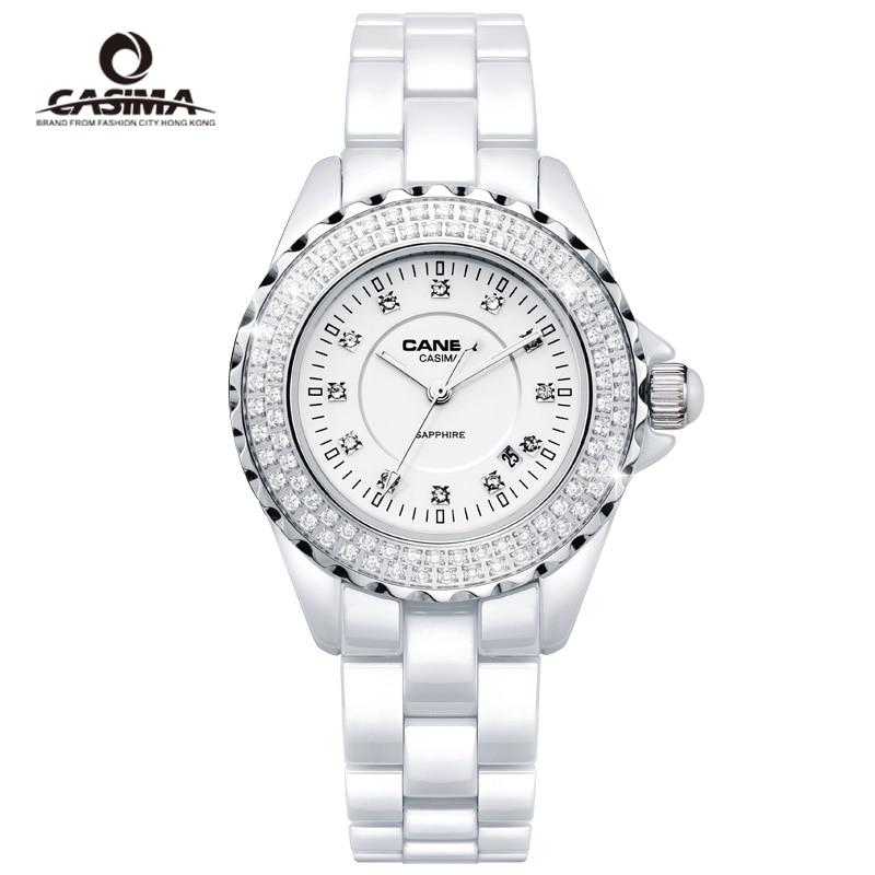 Brand ladies dress watches classic white montre femme ceramic quartz watch for women girl clock waterproof 100M relogio feminino