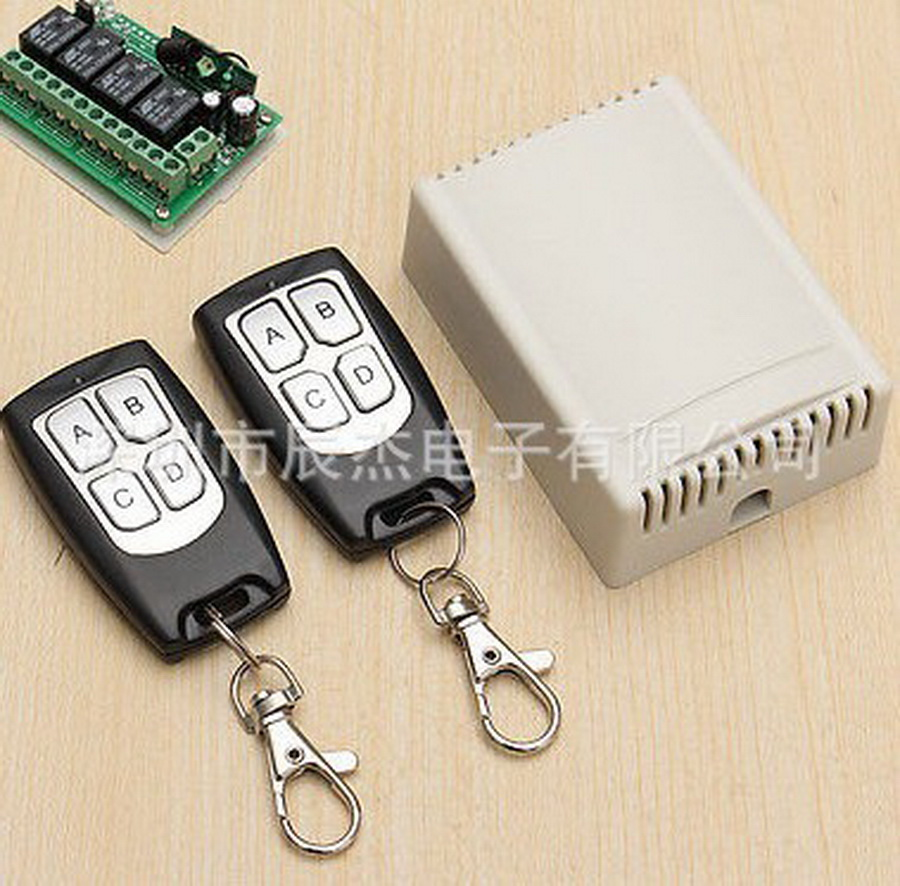 dhl or fedex 20pcs Wireless Remote Control Switch DC 12V 4CH relay Receiver Module With 4