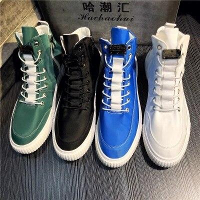 Chaussures pour hommes été chaussures décontractées respirantes chaussures hautes en toile version coréenne de la tendance des chaussures hip-hop sauvages hommes.