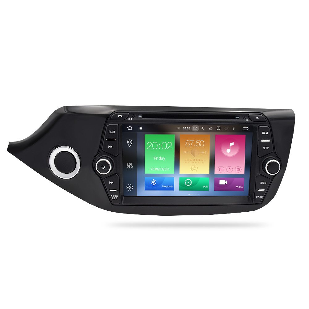 Image 2 - Android 8.0 9.0 Car Multimedia DVD Player for Kia Ceed 2013 2014 2015 2 Din Touch Screen Radio Stereo Video WiFI GPS Navigation-in Car Multimedia Player from Automobiles & Motorcycles
