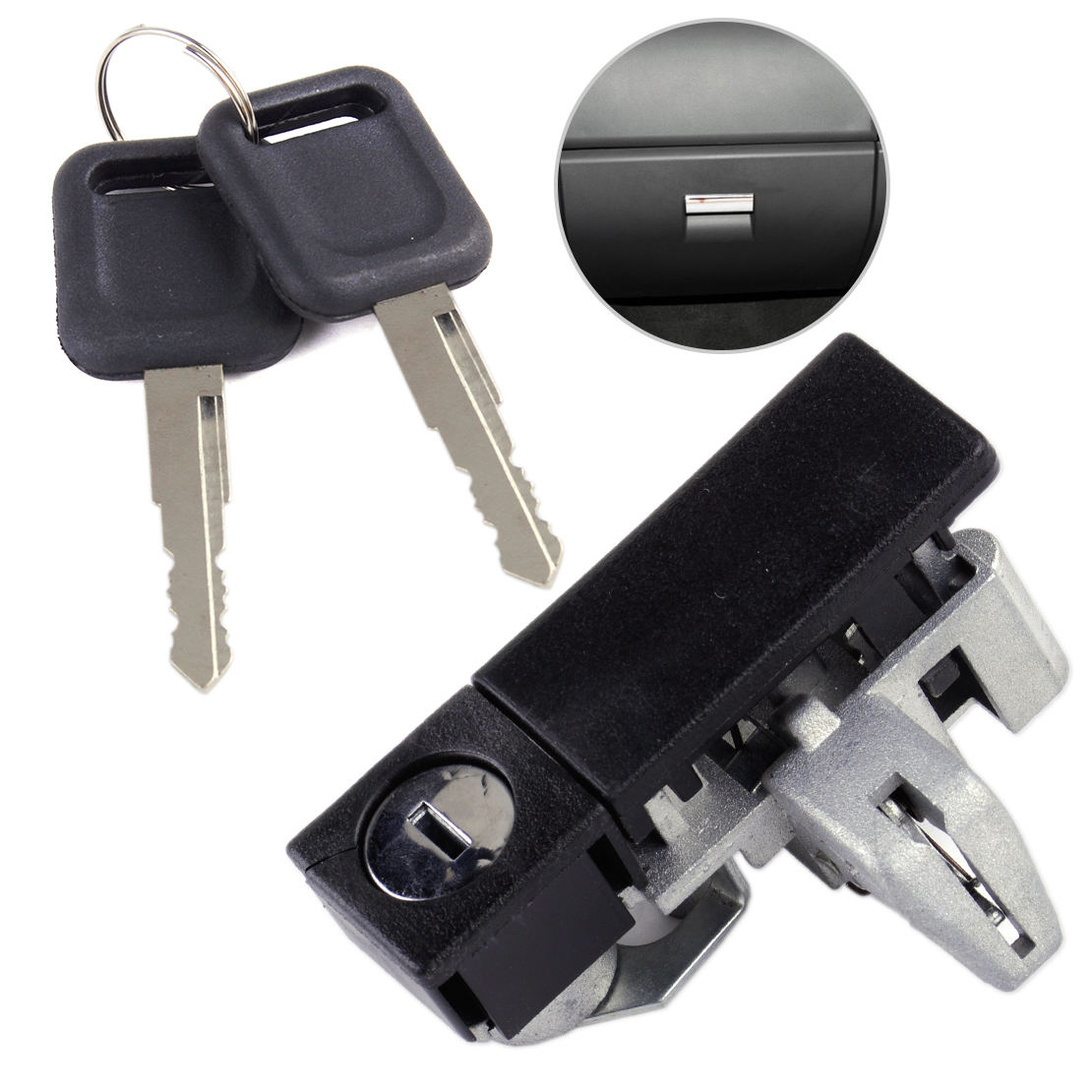 DWCX New Car Glove Tool Box Lock With Two Keys 8.4 x 2.8 x 4.1cm Fit For Great Wall V200 V240 2010 2011 2012 2013 2014 2015