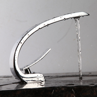 Free Shipping Creative First Class Brass Bathroom Sink Faucet Hot Water and Cold Water Special Design Bathroom Taps