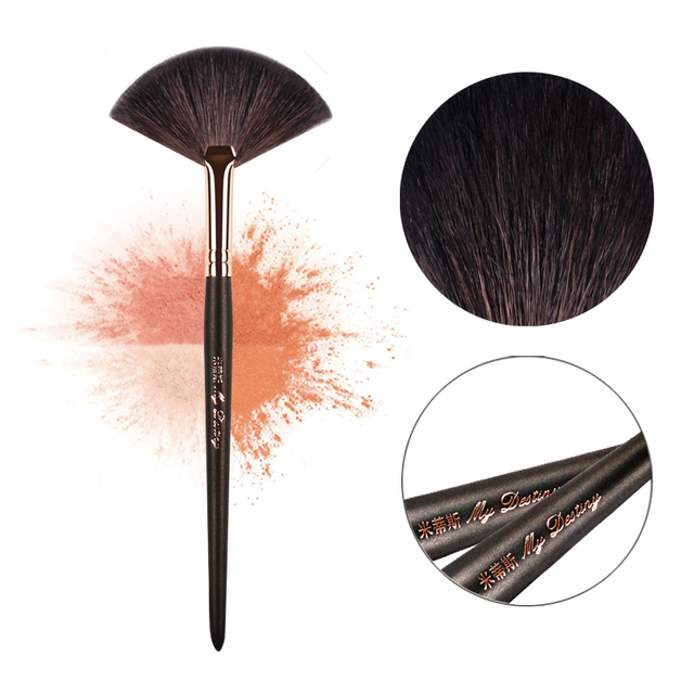MY DESTINY Goat Hair Fan Brush for Powder Make Up Makeup Brushes Pincel Maquiagem Brochas Maquillaje Pinceaux Maquillage 051 4