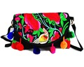 2-usage Vintage Hmong Tribal Ethnic Thai Indian Boho shoulder bag messenger  purse bag hobo tote bag embroidery , SYS-445