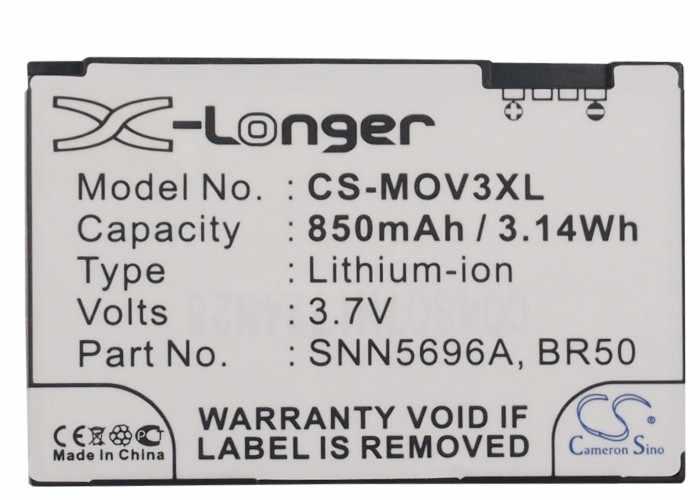 Cameron Sino 850mAh Battery BR50 for Motorola 285, U6, 300, 500, Razr V3, V3c, V3E, V3i, V3IM, V3m, V3T, V3xx, Razr V3Z, V235
