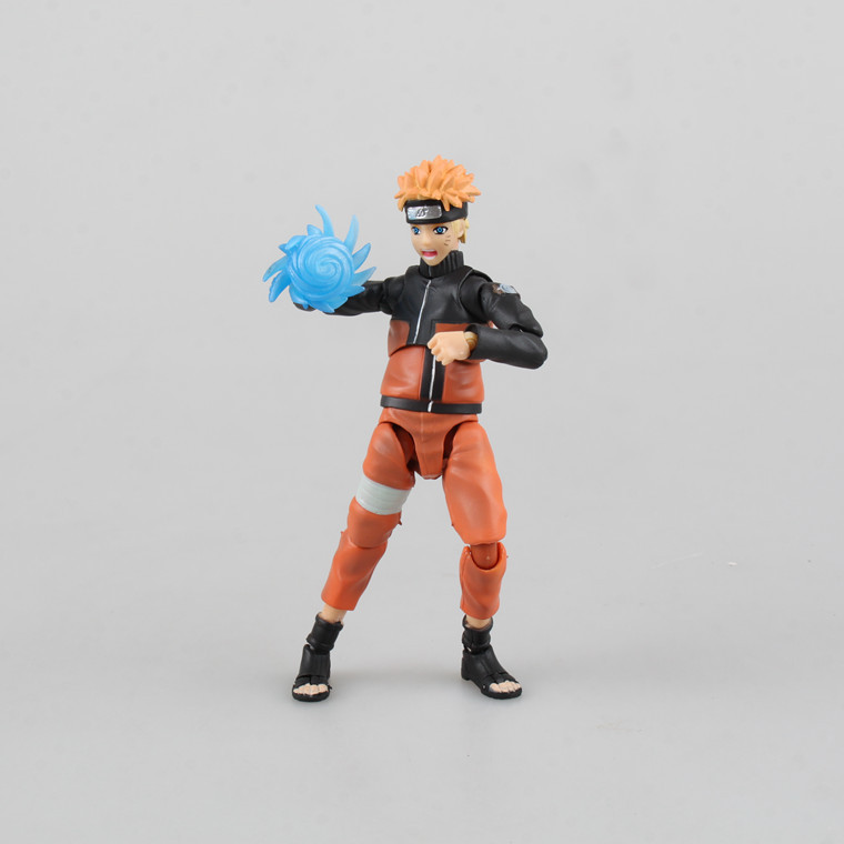 SANITGI Naruto Shippuden Uzumaki Naruto / Uchiha Sasuke PVC Action Figure Collectible Model Toy 14cm Doll Anime Toy SHFiguarts pu short wallet w colorful printing of naruto shippuden uchiha itachi