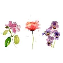 afa4dedcd Tatuaje temporal impermeable acuarela Rosa moth orquídea flores tatto  pegatinas flash tatoo tatuajes falsos para chica Mujer