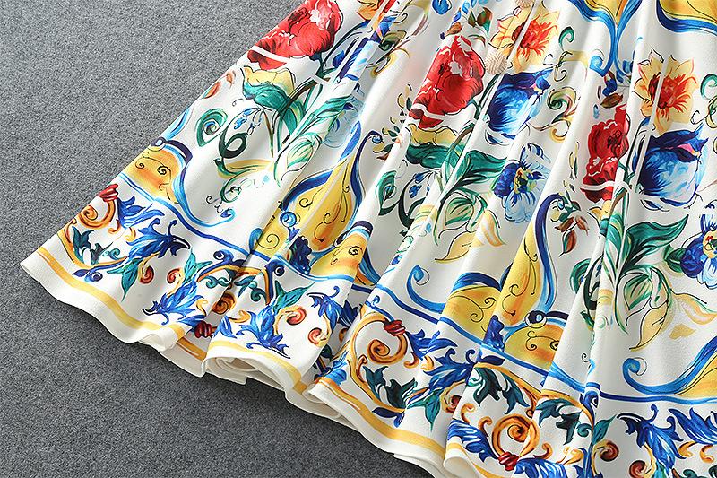 夏のトーテムプリント古代の方法を復元ドレス  人気 Honno 13