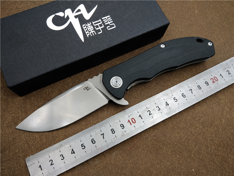 CH Folding Knife CH3504 G10 handle D2 blade Ceramic ball bearing Outdoor camping knife Hunting Hiking Fishing EDC hand tool hx small mercenary survival hunting knife d2 steel blade fixed blade knife straight camping knives multi tactical hand tools