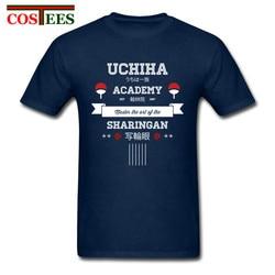 W stylu Vintage wysokiej Streetwear Retro koszulki, dzięki czemu mężczyźni Naruto koszule z Uchiha akademii męskie stworzyć swój własny odzież tanie topy Tee 4