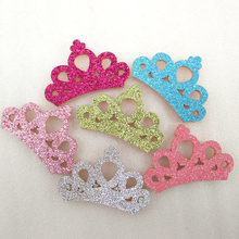 David accessories Girl Princess Glitter Crown Headband Child Hairband Kids DIY Craft Newborn Baby Hair Accessories 50pcs,50Yc229