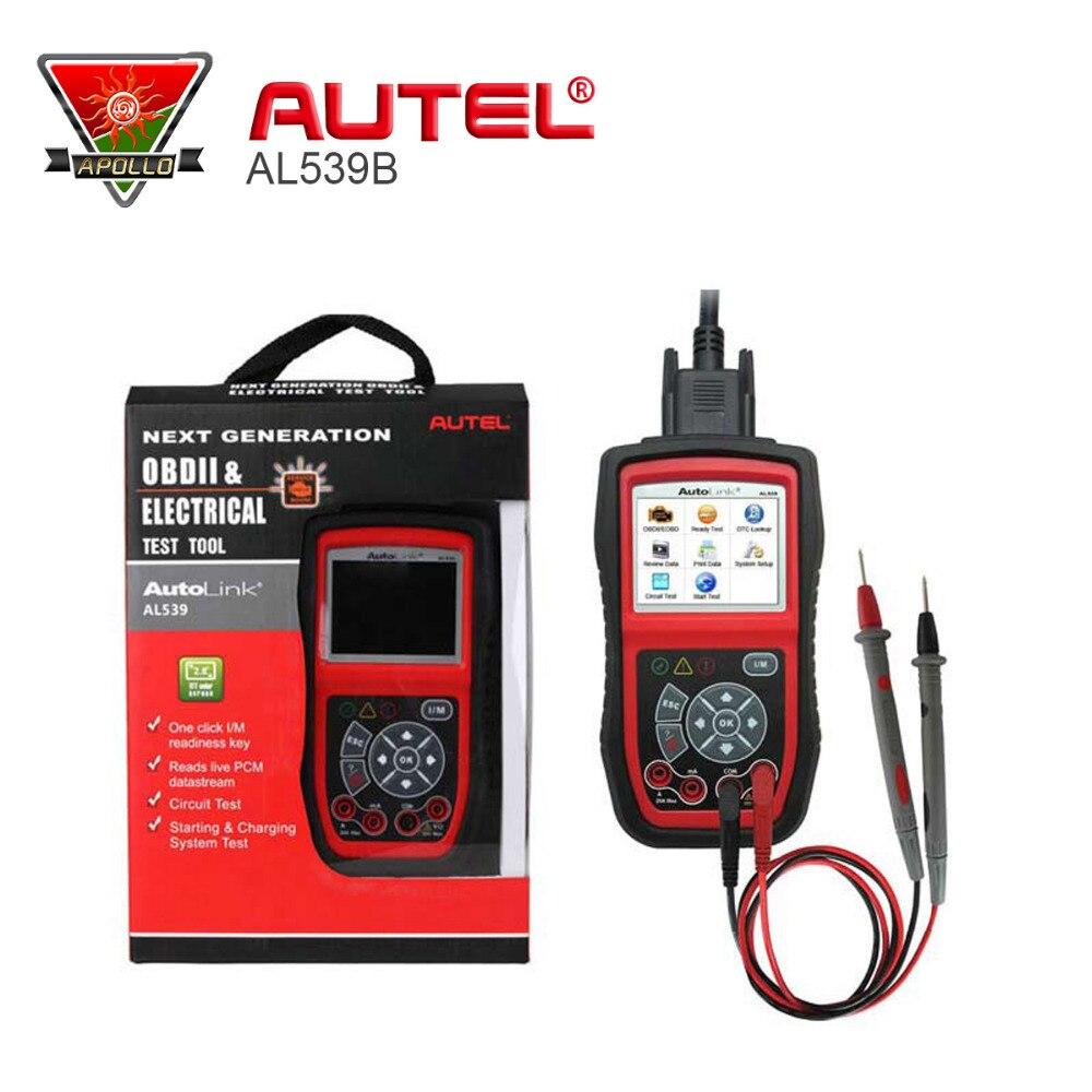 Prix pour Autel AutoLink AL539b OBD 2 Lecteur de Code de Test Électrique OBD2 Outil D'analyse Automatique Scanner Automobile Automotivo Escaner Automotriz