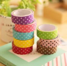2Pcs/set Korean Version Simple Dot Paper Tape Sticker DIY Album Decorative Stickers Scrapbooking Stationery Color Random