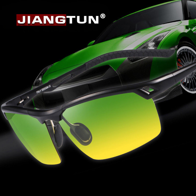 JIANGTUN 2017 New Aluminum Polarized Sunglasses Half Frame Luxury Men Polaroid Driving Sun Glasses for Day and Night