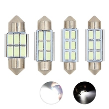 цена на 1pcs Festoon CANBUS 31mm 36mm 39mm 41mm C5W led ERROR FREE 5630 5730 6 LED smd interior reading white blue bulbs dome lamps