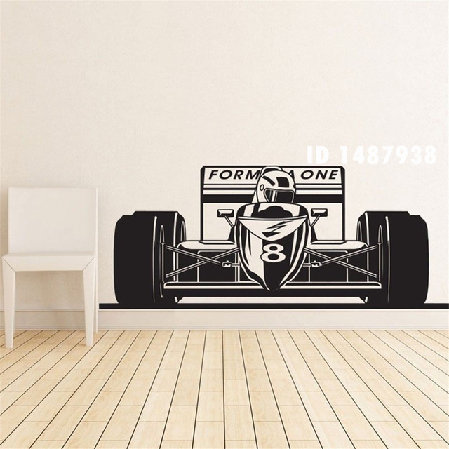 Formula 1 One Racing Sports Car Wall Decal Art Boys Room Home Decor Stickers Vinyl Decoration Mural Paper T426
