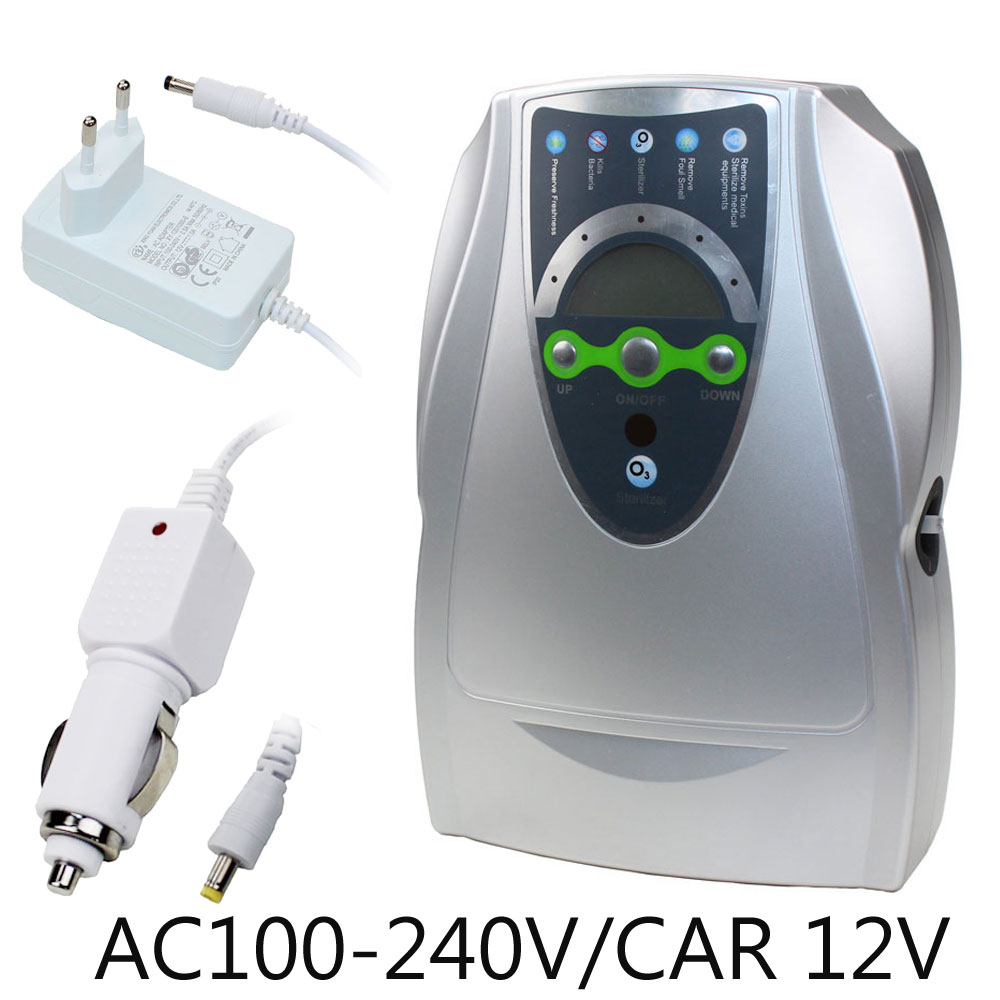 Ozone Generator 220V 110V 12V Sterilizer Air Purifier Purification Fruit Vegetables Water Food Preparation Ozonator Ionizator