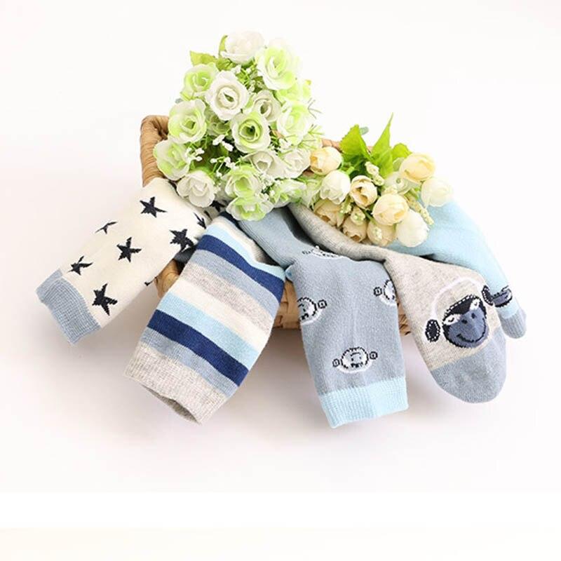 QMX-2501---QMX-2509 NEW 2018 Autumn Pure Cotton Children Socks Stripe Stars Boy's Money Thin Cotton stripes cartoons Boy socks