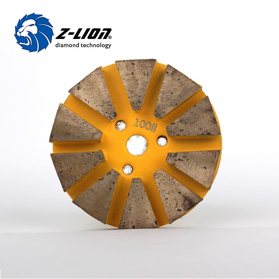 Z-Lion 3 Inch Metal Bond Diamond Polishing Wet Concrete Floor Polishing Concrete Circles By Grinding Machine metal bond 10pcs 3 diamond grinding cup