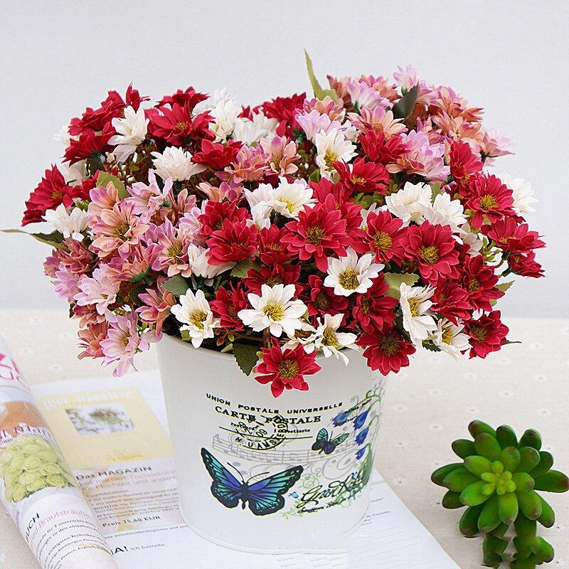 Haus & Garten 10 Köpfe Silk Künstliche Blumen Braut Holding Bouquet Hochzeit Blumen Dekoration Zubehör Bauernhaus Decor A6340