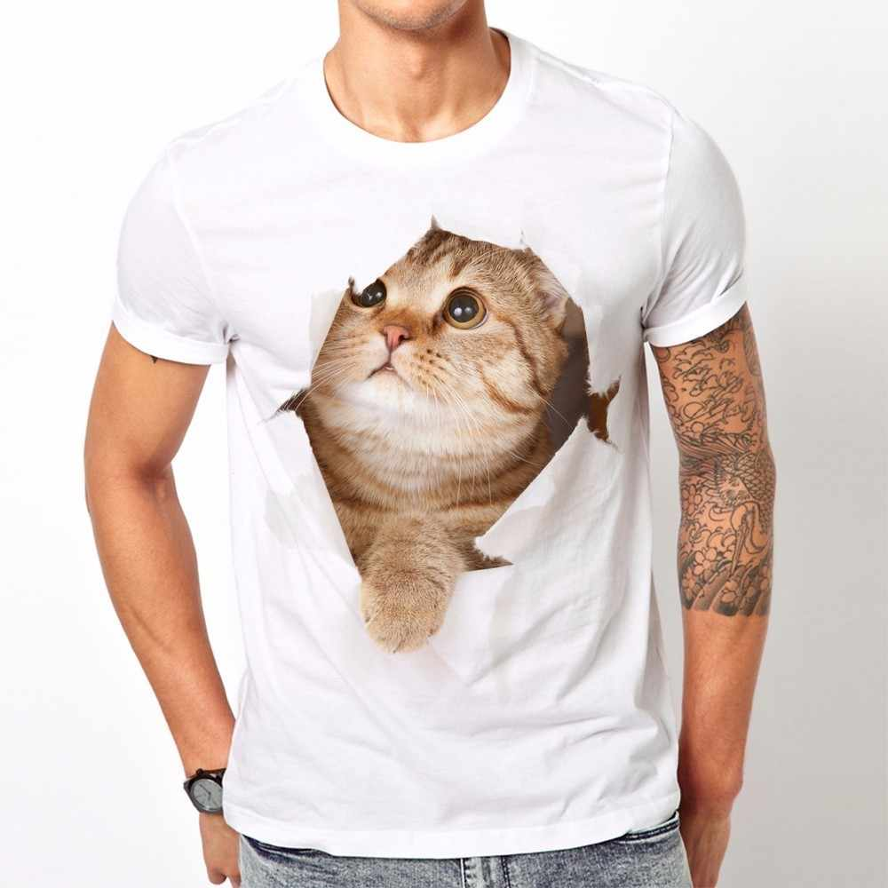 932b6120d Detail Feedback Questions about TEEHEART 2018 Summer High Quality Round Neck  Tee Top Hip Hop T shirt For Men 3d Funny Dabbing Cat Printed Male Shirt  LF181 ...