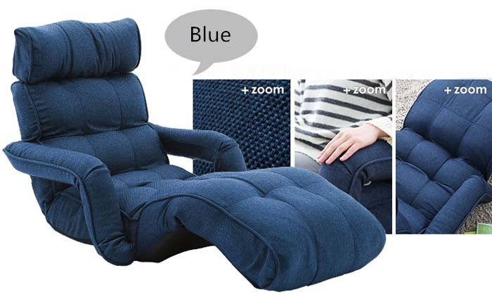 Modern Folding Chaise Lounge Sofa Japanese Style Foldable Single Bed 4 Color Living Room Furniture