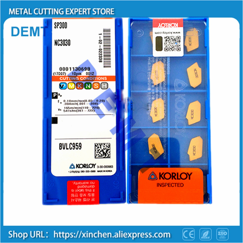 NEW 10pcs SP300 NC3030 CNC Carbide Insert Korloy