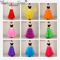 Multiple Colour Simple Women Petticoat Long Floor Length 100cm 2016 Wedding Accessories Tulle Underskirt Women A