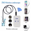 Wifi Endoscope Camera Control Wide Angle Hidden Dedicated Digital Video Recorder USB LED Microscope 5 Meter Borescope