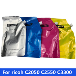 4 torba/zestaw kompatybilny kolor proszek tonera do napełniania proszek do ricoh MP C2550 C2550C C2010 C2030 C2050 C2051 C2530 C2551 Lanier LD525C
