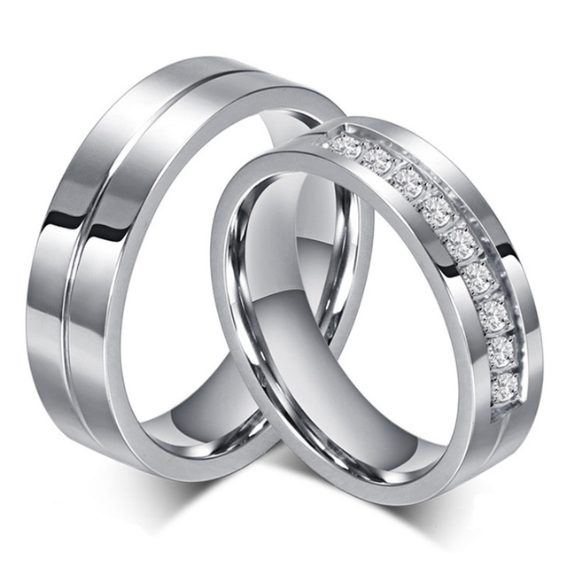 Aliexpresscom Buy New Couple Engagement Ring Lovers Rings for